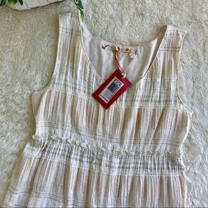 Chelsea & Violet cream/off-white ruffle dress 12